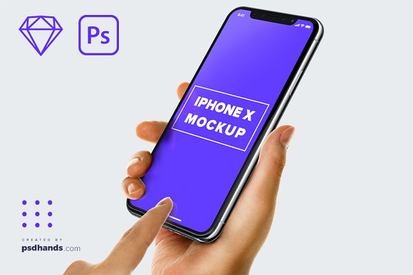 Free iPhone in Hand mockup Multi Device 4