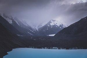 Dramatic Clouds over Glacier Lake