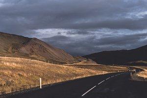 Autumn Landscape with Dark Road