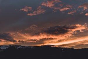 Dramatic Midnight Sunset