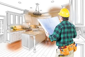 Contractor Facing Kitchen Drawing