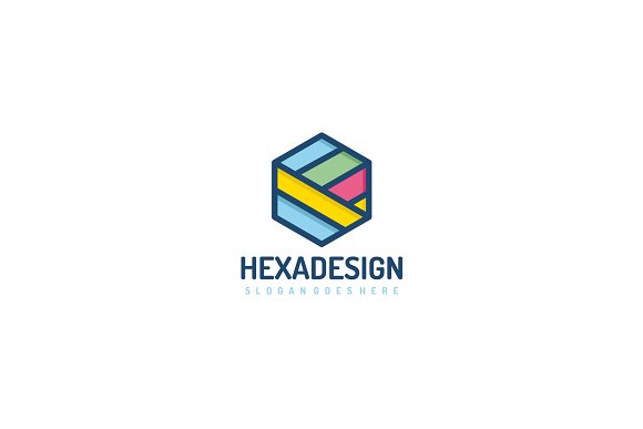 Colored Hexagon Logo