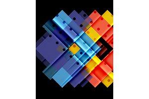 Color arrows on black background