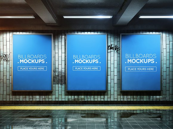 Subway Billboards Mockups #M19