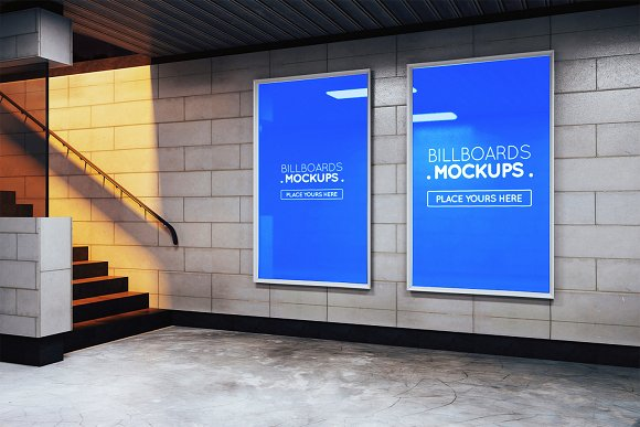 Subway Billboards Mockups #M24