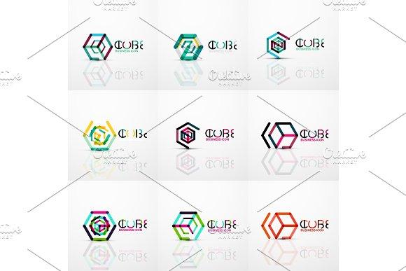 Cube Idea Concept Logo Line