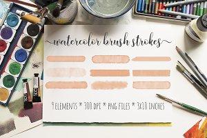 Rose Watercolor Brush Strokes Kit