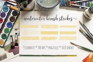 Orange Watercolor Brush Strokes Kit