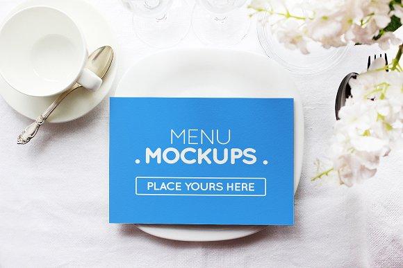Reserve Card Menu Mockup #M01