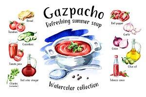 Gazpacho. Watercolor collection