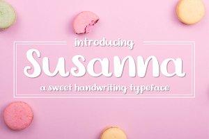 Susanna - A Sweet Handwritten Font