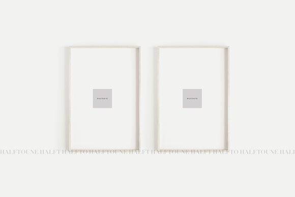 Mockup Set Of 2 Frames Mock Up