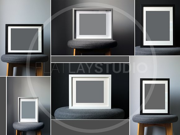 FLAT LAY - 10 FRAME MOCKUP BUNDLE in Print Mockups - product preview 1
