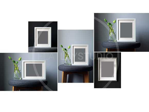FLAT LAY - 10 FRAME MOCKUP BUNDLE in Print Mockups - product preview 2