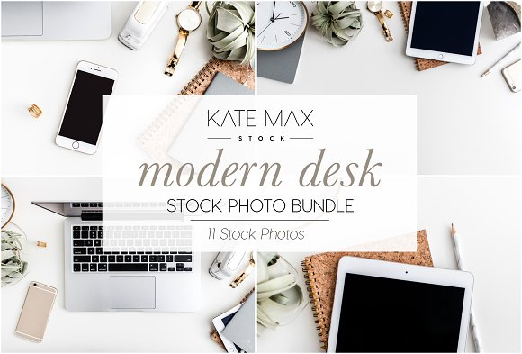 Modern Desk Stock Photo Bundle