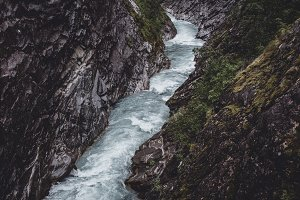 Wild River in the Mountains, Norway