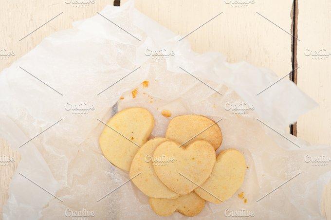 heart shaped shortbread cookies 003.jpg - Food & Drink