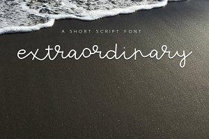 Extraordinary - Short Script Font