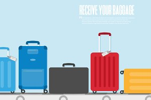 Travel concept. Vector. Baggage icon