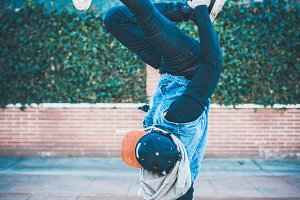 man doing break dance(vertical)