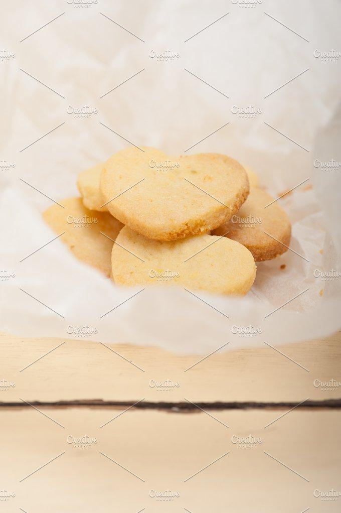 heart shaped shortbread cookies 012.jpg - Food & Drink