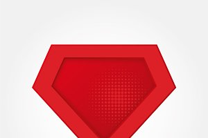Superhero logo template. Flat vector