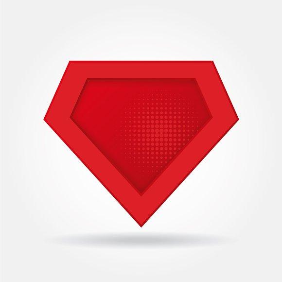 superhero logo template flat vector illustrations creative market