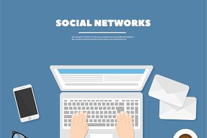 Vector illustration social networks