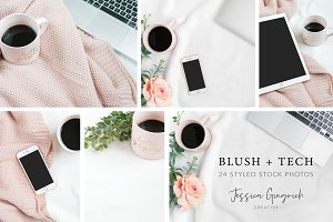 Blush + Tech Styled Stock Photos