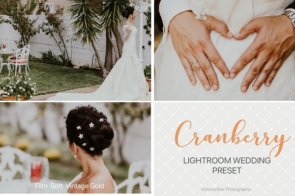 CRANBERRY Wedding Lightroom Preset