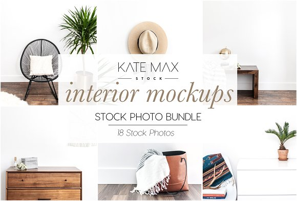 Interior Mockups Stock Photo Bundle