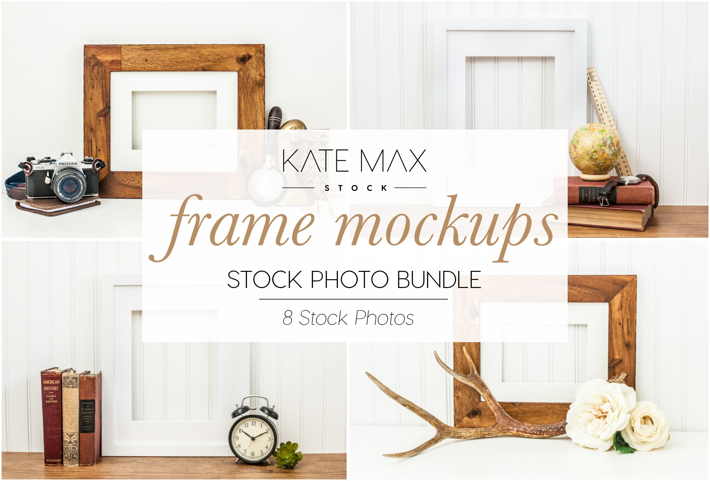 Frame Mockups Stock Photo Bundle ~ Product Mockups ~ Creative Market