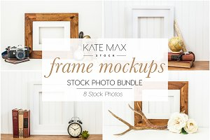 Frame Mockups Stock Photo Bundle