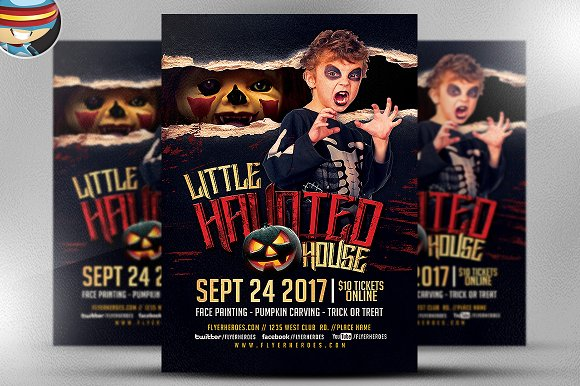 Little Haunted House Flyer