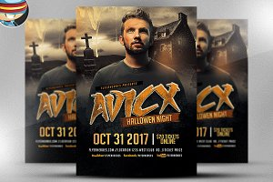 Avicx Halloween Night DJ Flyer