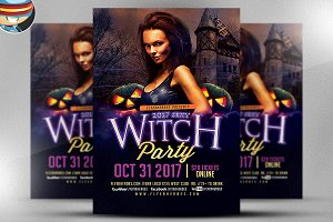 The Witches Are Out Party Flyer
