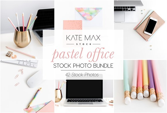 Pastel Office Stock Photo Bundle