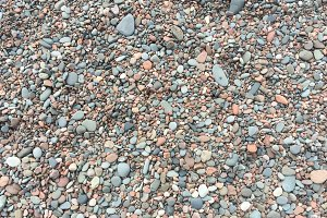 Stones and Pebble on a Beach