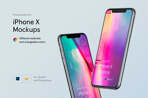 iPhone X Mockups | Presentation Kit