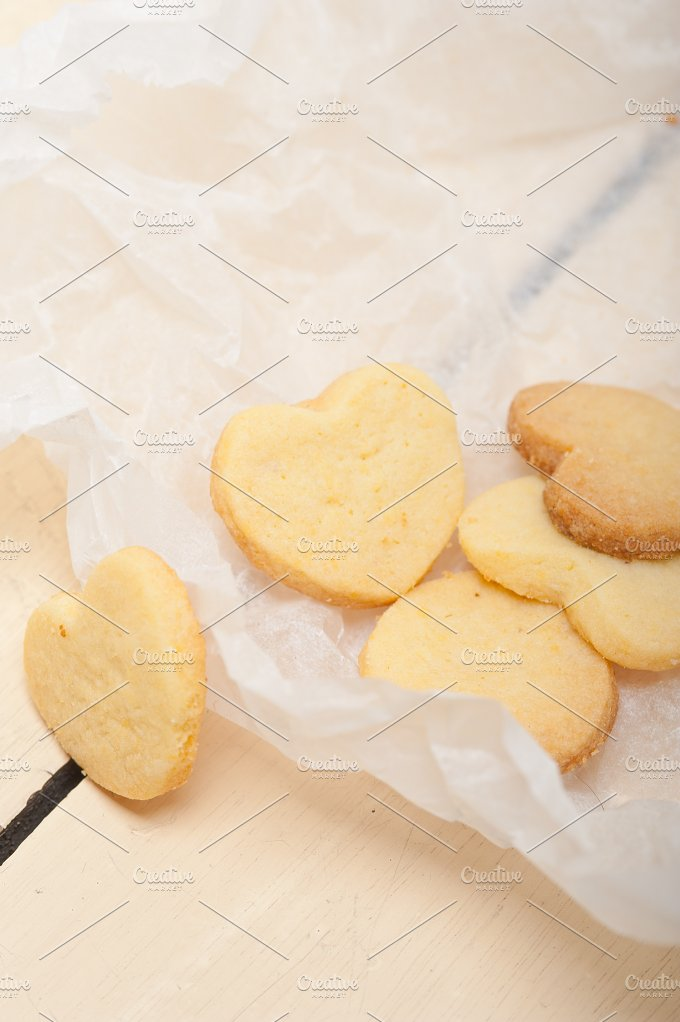 heart shaped shortbread cookies 040.jpg - Food & Drink