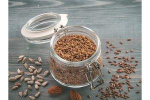 LSA mix, Linseed, Sunflower seeds, Almonds