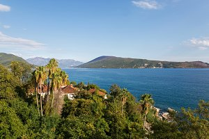 sea view from the fortress of Herceg-Novi