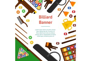 Billiard Game Equipment Set