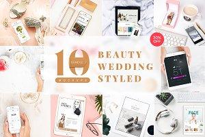 10 Beauty & Styled Mockups Bundle