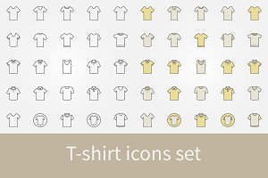 T-shirt icons set - t shirt signs