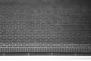 Black and white brick texture background