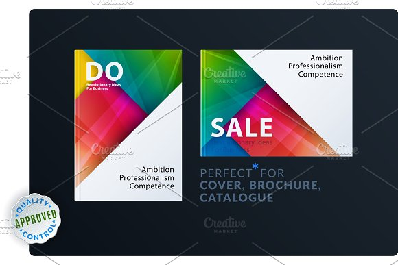 Material Design Of Brochure Set Abstract Annual Report Horizontal Cover