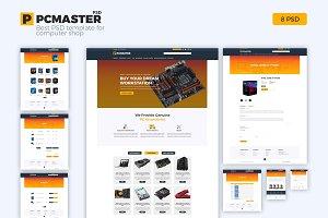PCMR - Computer Shop PSD Template