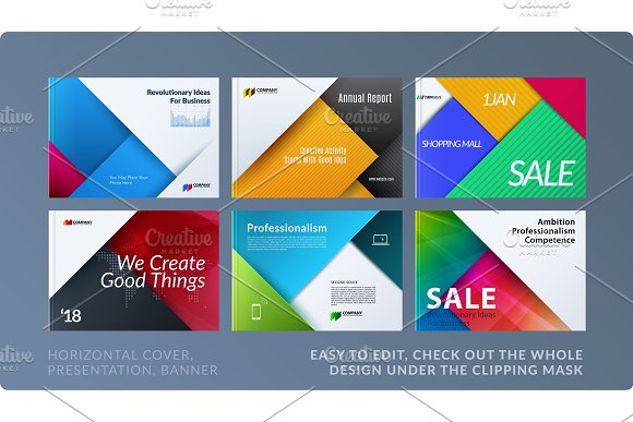 Material Design Of Brochure Set Abstract Annual Report Horizontal Cover Layout Flyer In A4 With Vector Colourful Layers