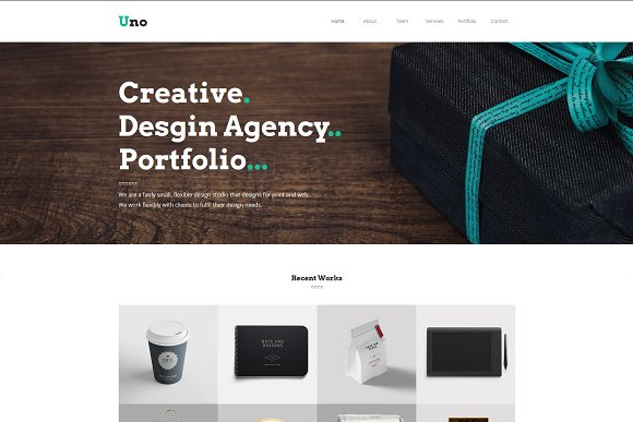 Uno-Creative Multipage Muse Template